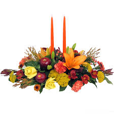 thanksgiving celebration centerpiece designed by karins florist