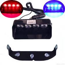 strobe light installation truck super bright 4 led 12w warning caution car van truck emergency