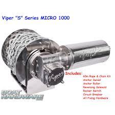 viper micro 1000 electric anchor winch s series