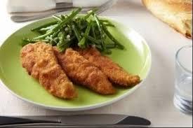 cours de cuisine 77 recette en vidéo poulet pané aux amandes poêlée de haricots verts