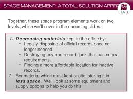 space planning program space planning in records management