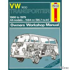 vw 1600 transporter manual english j h haynes vw classic bug