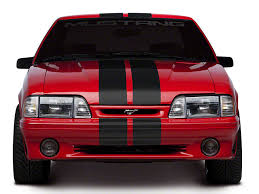 Black Mustang With Red Stripes Foxbody Mustang Racing Stripes Americanmuscle