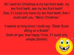 all i want for is my two front teeth