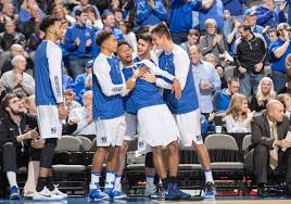basketball bench celebrations creighton freshmen having impact without leaving bench starters