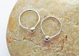 end cartilage earrings silver hoop earrings small