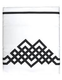 drap en satin de coton drap plat night u0026day n 24 en satin de coton blanc et ruban noir