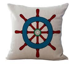 cuscino massaggiatore la direzione tema nautico retro timone captain emoji cuscino