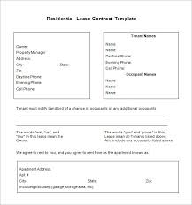 9 lease contract templates u2013 free word pdf documents download