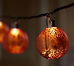 mercury glass string lights orange mercury glass pumpkin string lights pottery barn