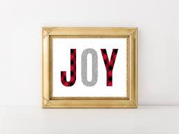 joy print 8x10 printable red and black buffalo plaid silver