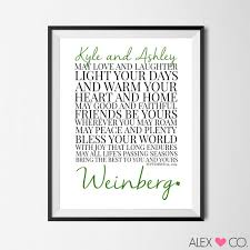 wedding blessing personalized marriage blessing printable wedding gift