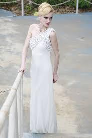 wedding dresses london asymmetrical wedding dress with braids by elliot london