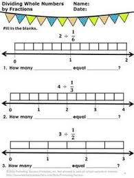 these free dividing whole numbers by fractions worksheets work