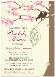 vintage bridal shower invitations pretty theme bridal shower cherry blossom floral invitations