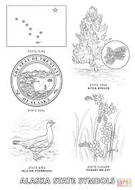 alaska state symbols coloring page free printable coloring pages