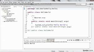 eclipse tutorial creating a java project lynda com youtube