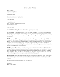 effective cover letters and templates basic cover letter format