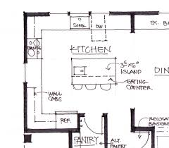 marvelous kitchen floor plans island design ideas photo decoration