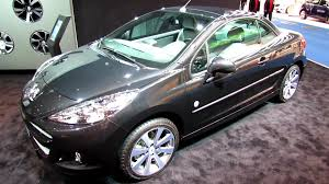 peugeot old models 2014 peugeot 207cc convertible exterior and interior walkaround