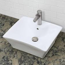decolav 1430 cwh square above counter vitreous china bathroom sink