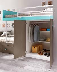 lit superpose bureau lit superposé avec rangement et personnalisable glicerio so nuit