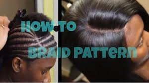 hair braid for a closure braid pattern tutorial for a lace closure sew in how to youtube