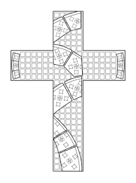 cross mosaic coloring page free printable coloring pages