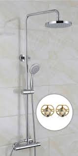 103 best bathroom images on pinterest moroccan design bathroom rosa round square dual control thermostatic shower mixer easy fitting kit opt freestanding bath tapstaps