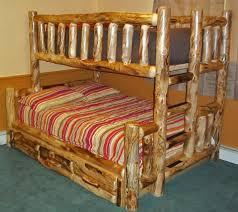 Aspen Log Bunk Bed Woodland Creek Furniture - Log bunk beds