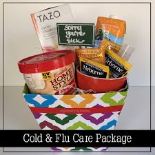 care package sick friend diy cold and flu care package organizedchaosonline
