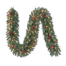 home depot fraser fir christmas tree black friday martha stewart living 9 ft pre lit hawkins garland with clear