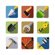construction tools set of vector icons u2014 stock vector