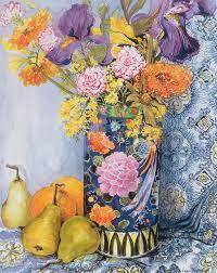 Vase With Irises Iris Paintings Fine Art America