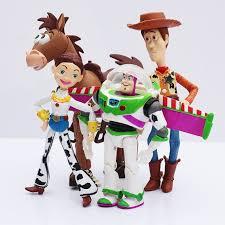 4pcs toy story buzz lightyear woody jessie pvc action toy