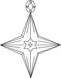 christmas star ornament coloring page kids coloring pages