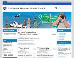 templates free joomla the tourist free joomla template from themza