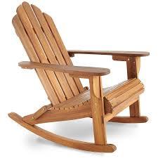 cartwheel solid wood garden rocking chair burntwood amazon co