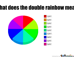 Rainbow Meme - what does the double rainbow really means by iveto meme center