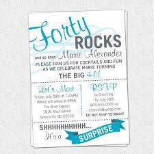 printable forty rocks birthday party bash invitation