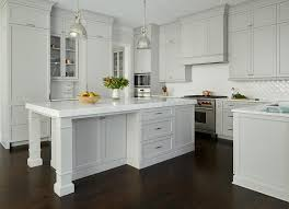 Gray Painted Kitchen Cabinets by Light Gray Painted Kitchen Cabinets With Glossy White Chevron