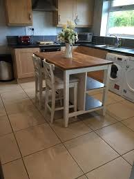 ikea stenstorp kitchen island and ingolf chairs in west kirby