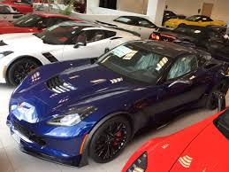 2016 corvette z06 with admiral blue metallic paint dark gray