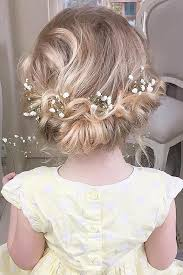 hair flower 25 best flower girl hairstyles ideas on communion