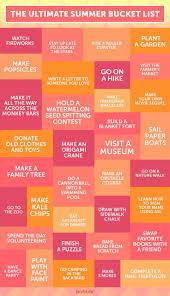 create a summer bucket list