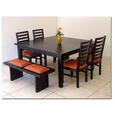 induscraft modern style 6 seater dining table set dining table