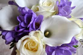 purple and white wedding flowers laurel weddings cheshire