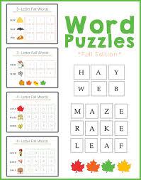 preschool worksheets spelling fall autumn words one