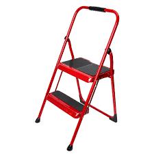 s322r 1 2 step type ii cherry red steel step stool