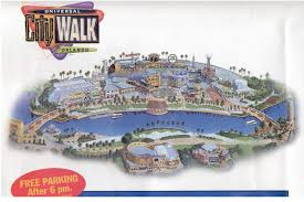 Universal Map Citywalk Orlando Map Universal Orlando Citywalk Map Florida Usa